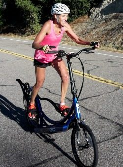 Mary Slaney on ElliptiGO 2015
