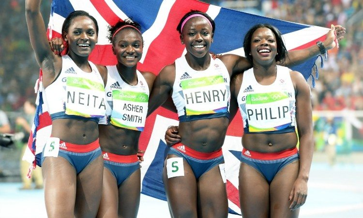 gb 4x100 rio 2016 neita asher-smith henry philip