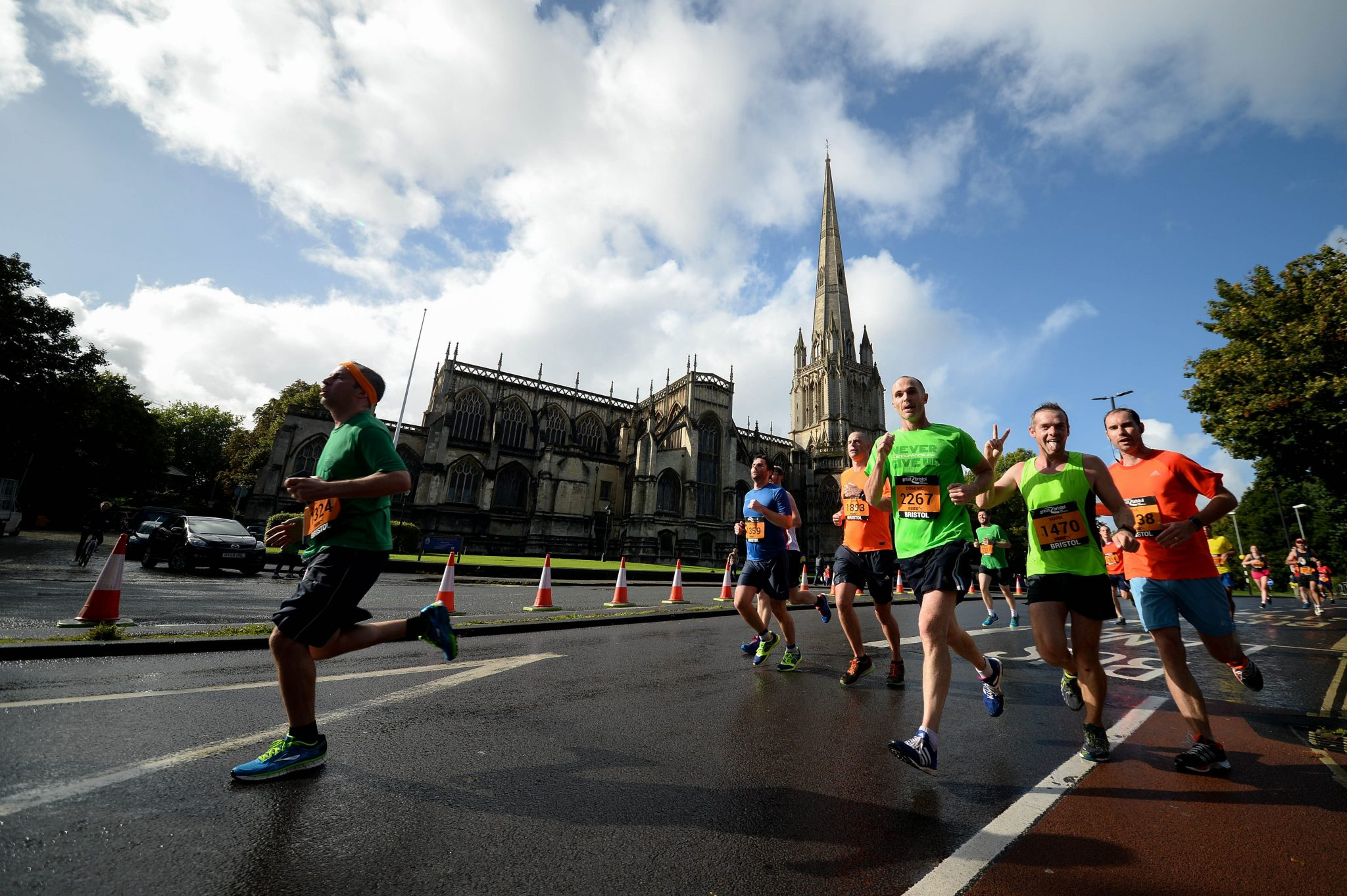 Runners take to the streets for Great Bristol Half Marathon