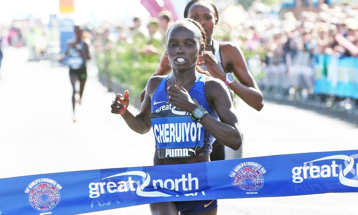 Vivian Cheruiyot wins Great North Run battle on half-marathon debut