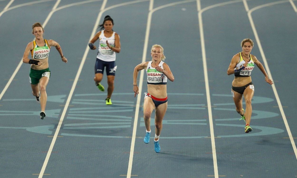 Georgie Hermitage, Sophie Hahn and Jonnie Peacock in record form in Rio