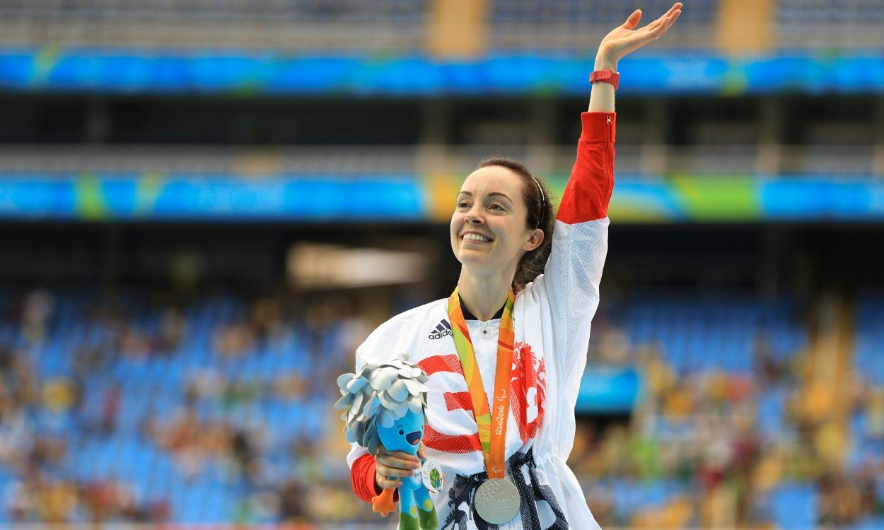 Stef Reid takes long jump silver at the Paralympics in Rio