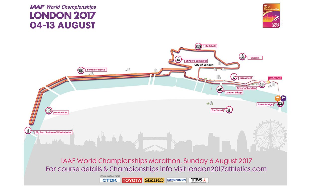 London 2017 announces iconic marathon and race walk routes