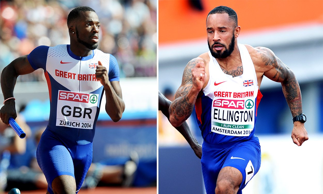 Nigel Levine and James Ellington return to UK after road crash