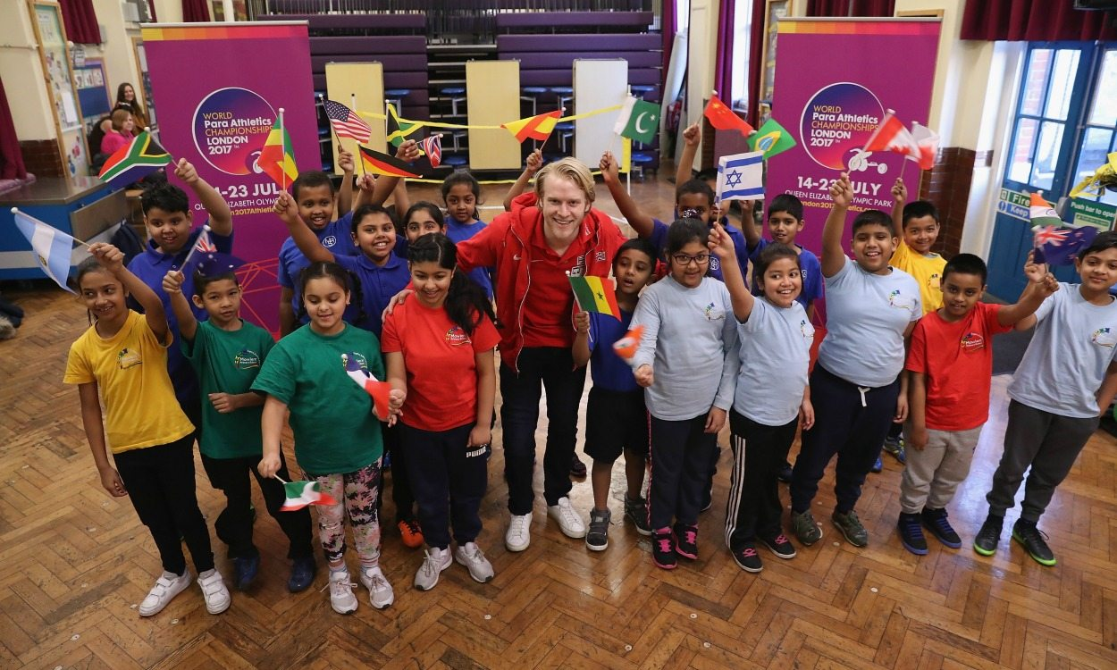 Jonnie Peacock launches London 2017 schools initiative