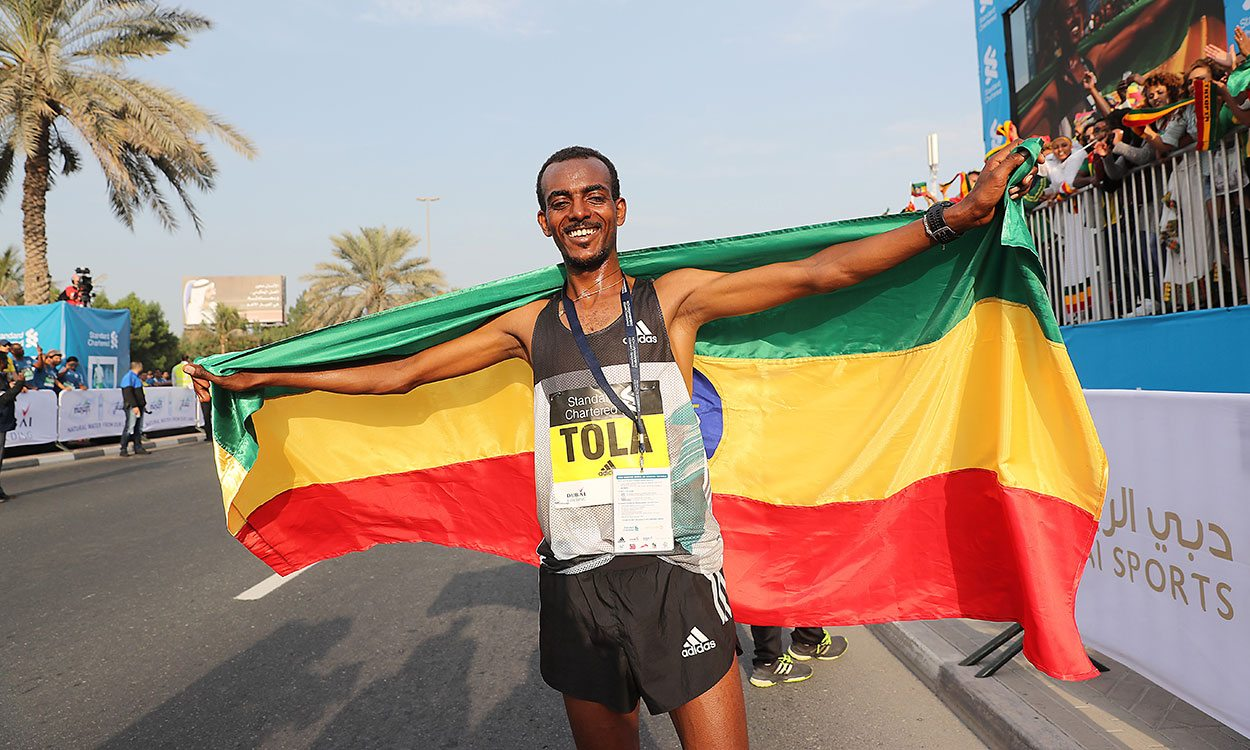 Tamirat Tola wins, Kenenisa Bekele DNF at Dubai Marathon