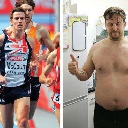 Running bet: Colin McCourt craves a pizza the action