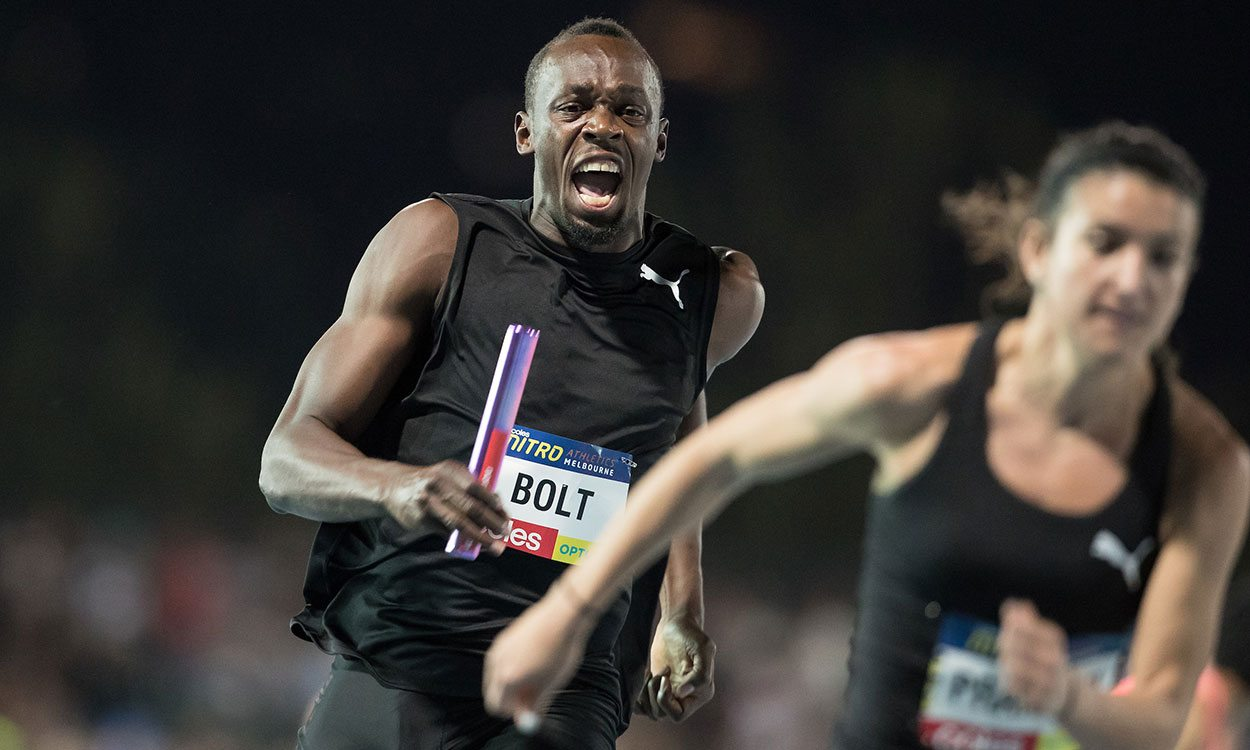 Usain Bolt helps Bolt All-Stars to victory on night one of Nitro Athletics