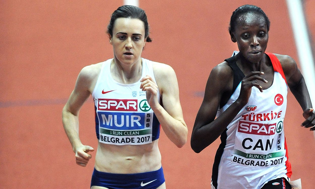 Laura Muir wins 3000m to complete historic Euro Indoors double