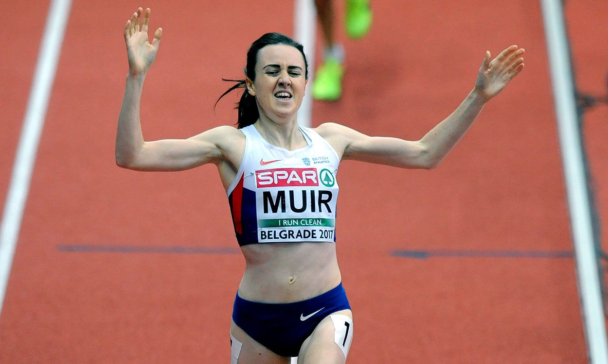 Laura Muir breaks British record for European indoor 1500m gold