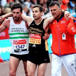 Matthew Rees and David Wyeth help show spirit of running