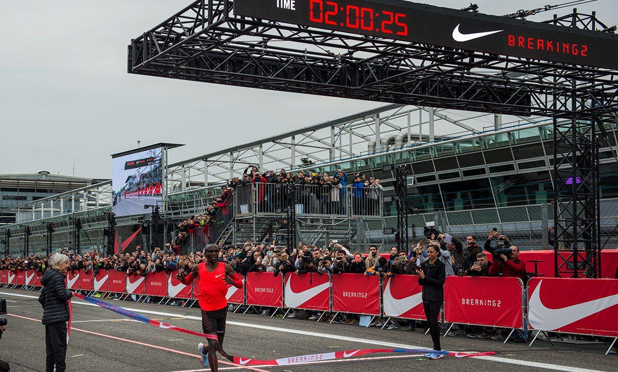 Eliud Kipchoge runs incredible 2:00:25 marathon in Breaking2 attempt