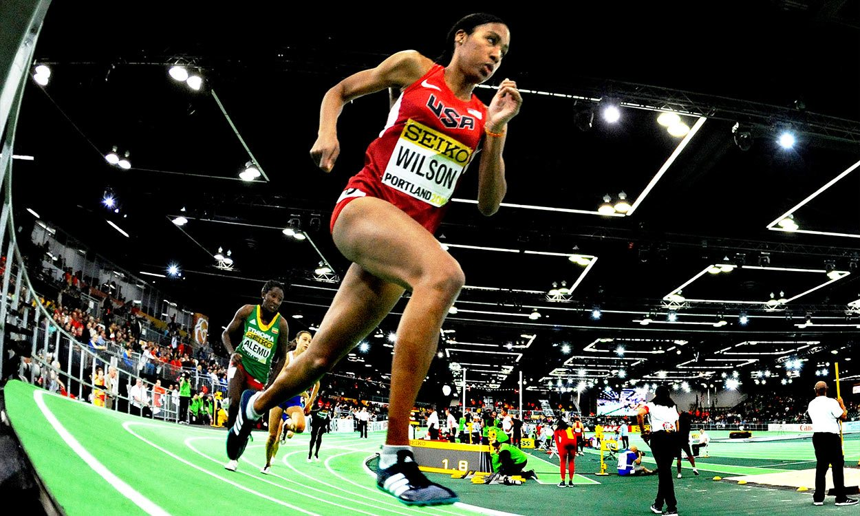 Ajee Wilson loses American indoor 800m record