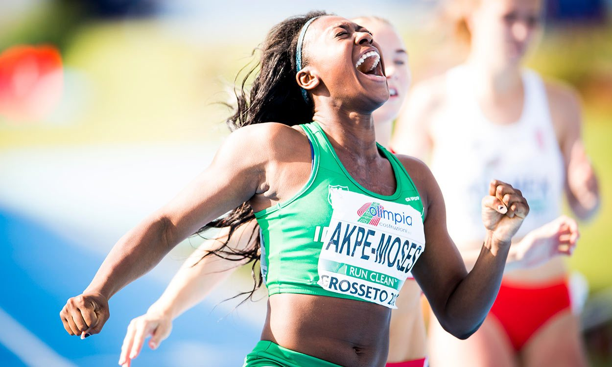 Gina Akpe-Moses and Filippo Tortu win European U20 100m titles