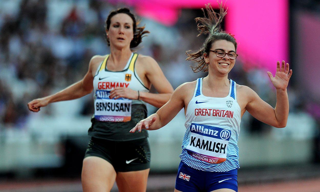 Sophie Kamlish and Hannah Cockroft win world titles in London