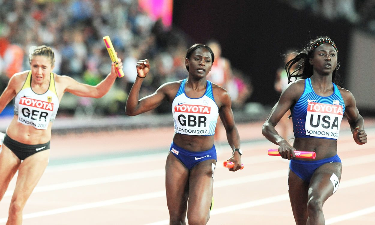 GB women strike sprint relay silver behind USA