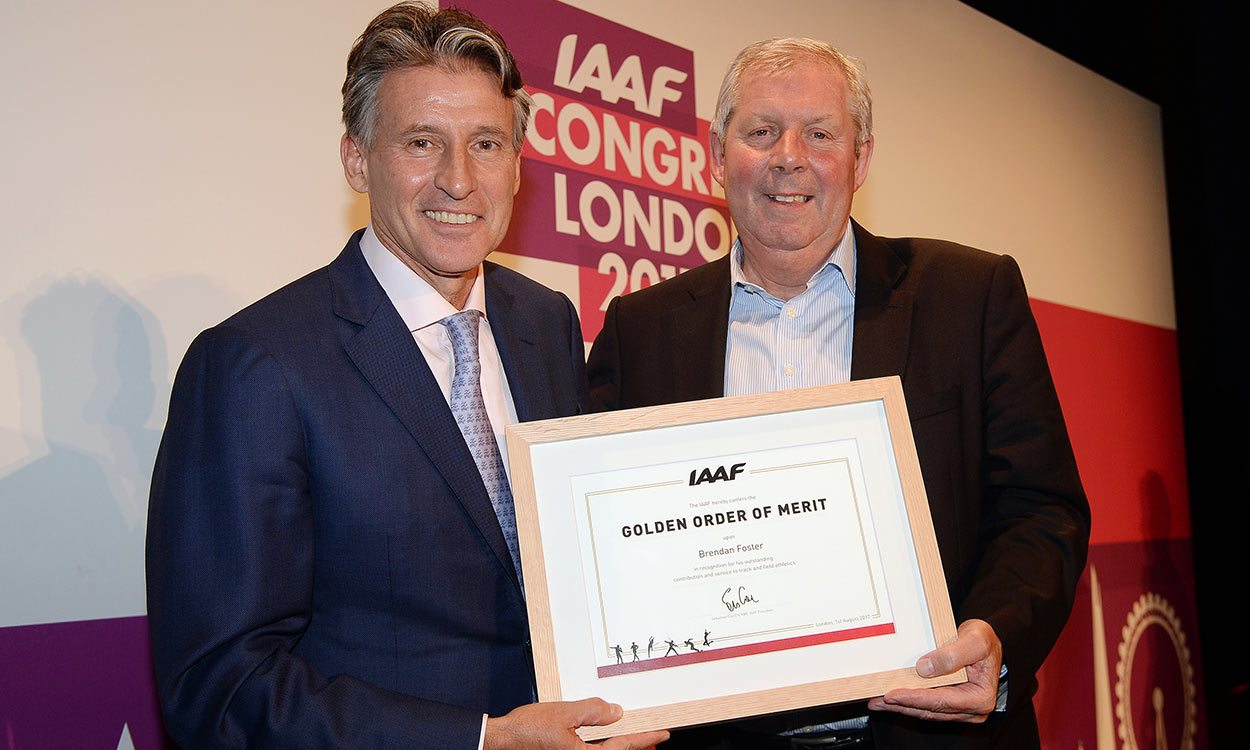 Brendan Foster awarded IAAF Golden Order of Merit