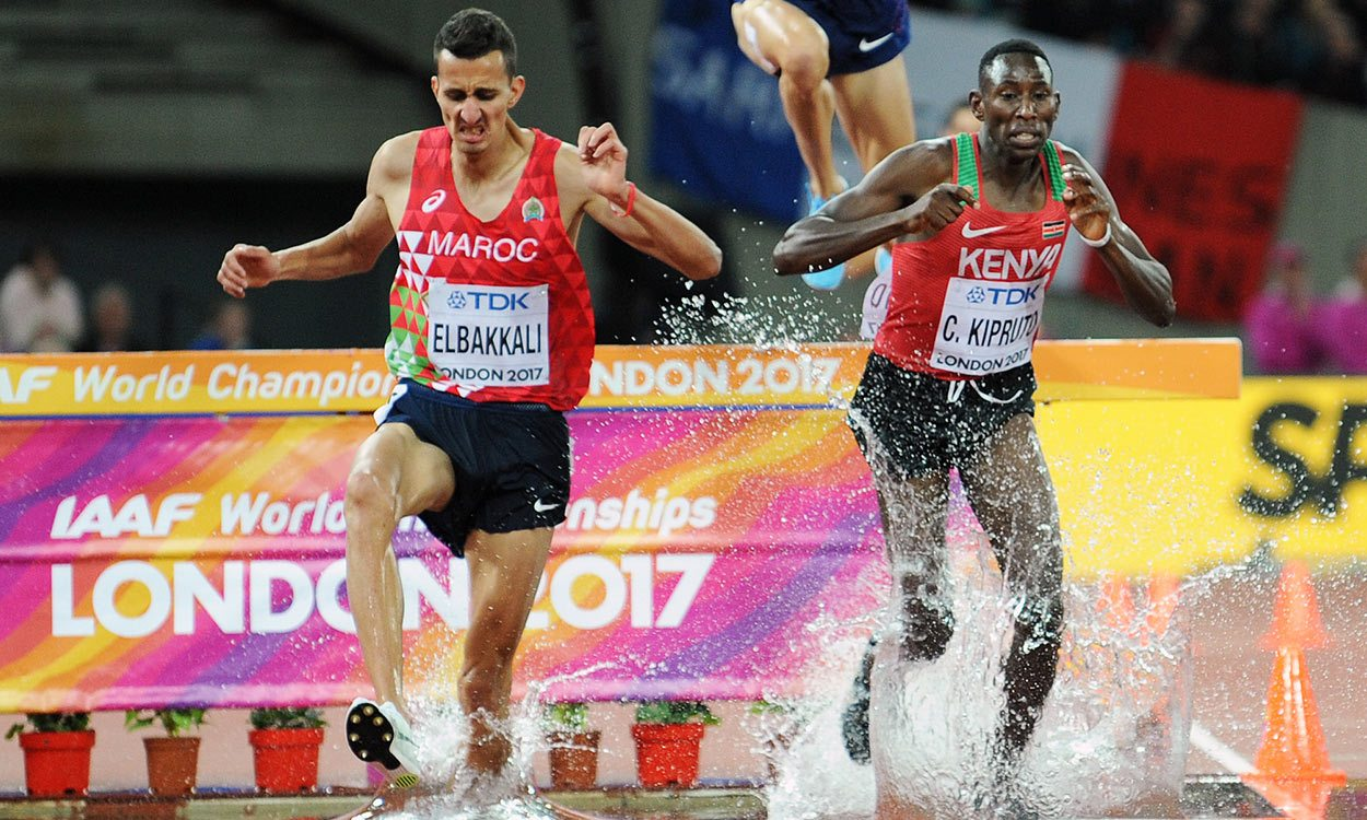 Conseslus Kipruto adds world title to Olympic steeplechase gold