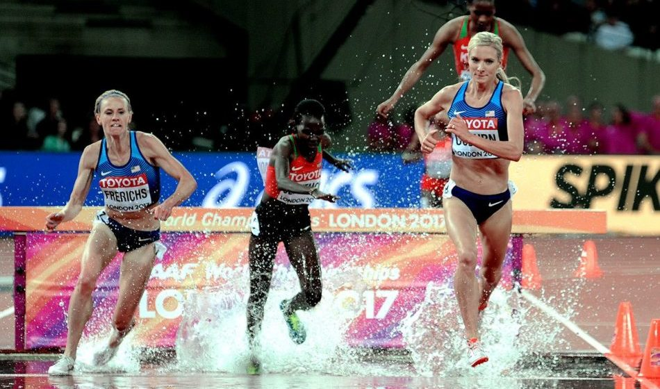 Emma Coburn wins steeplechase gold in world championships record