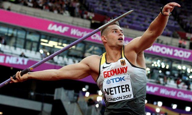 World javelin gold for Johannes Vetter in London