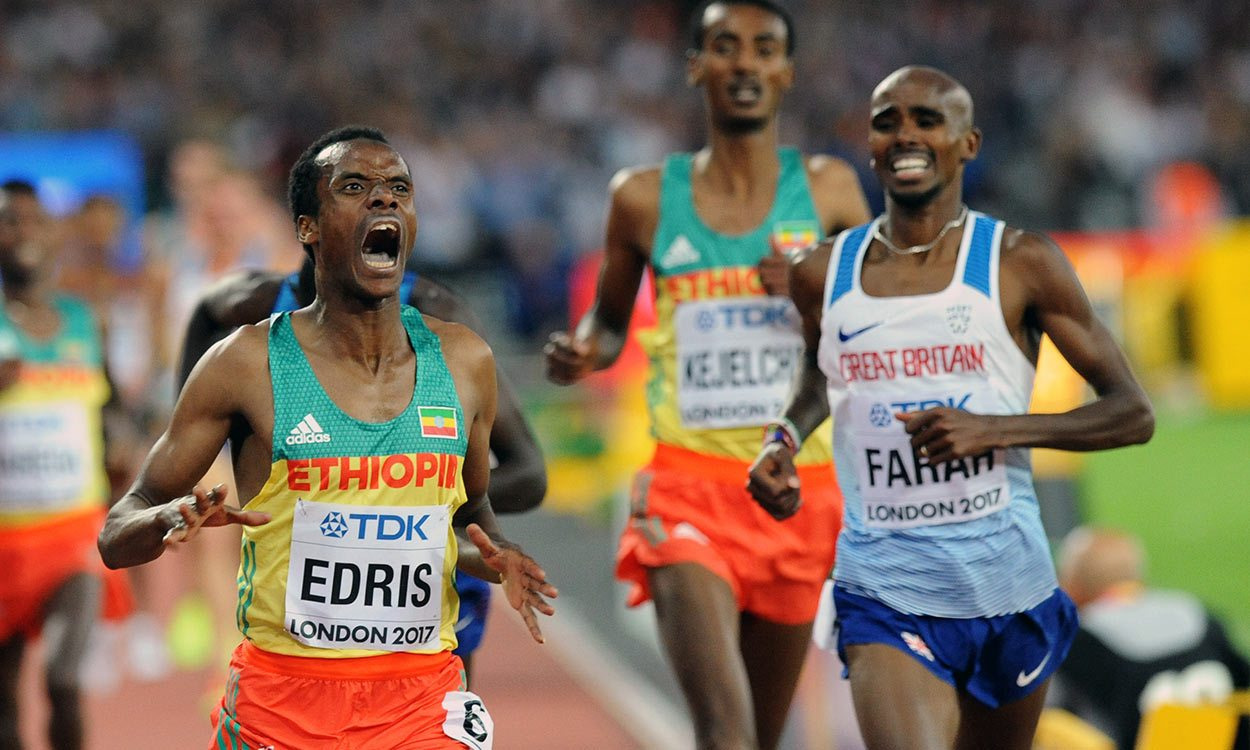 Mo Farah forced to settle for silver in world 5000m