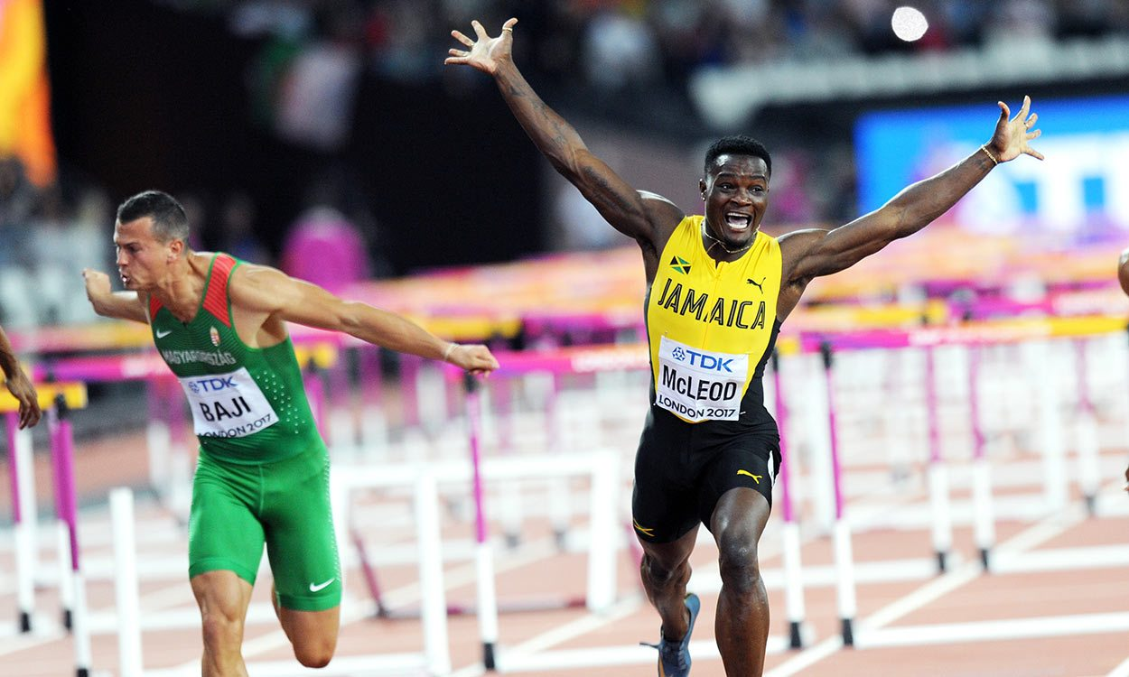 Omar McLeod wins first gold for Jamaica at London 2017