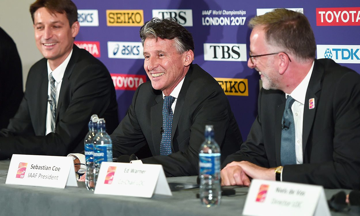 Seb Coe applauds London 2017