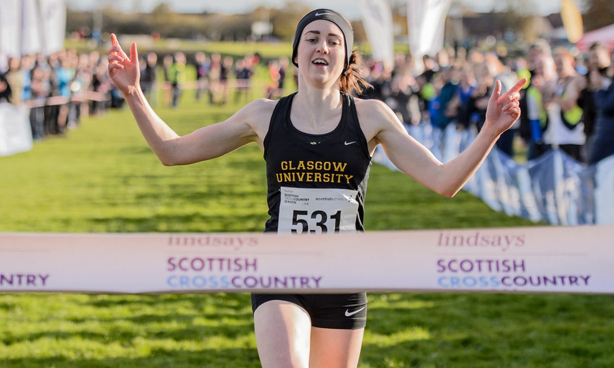 Laura Muir wins third consecutive Scottish short course cross country title