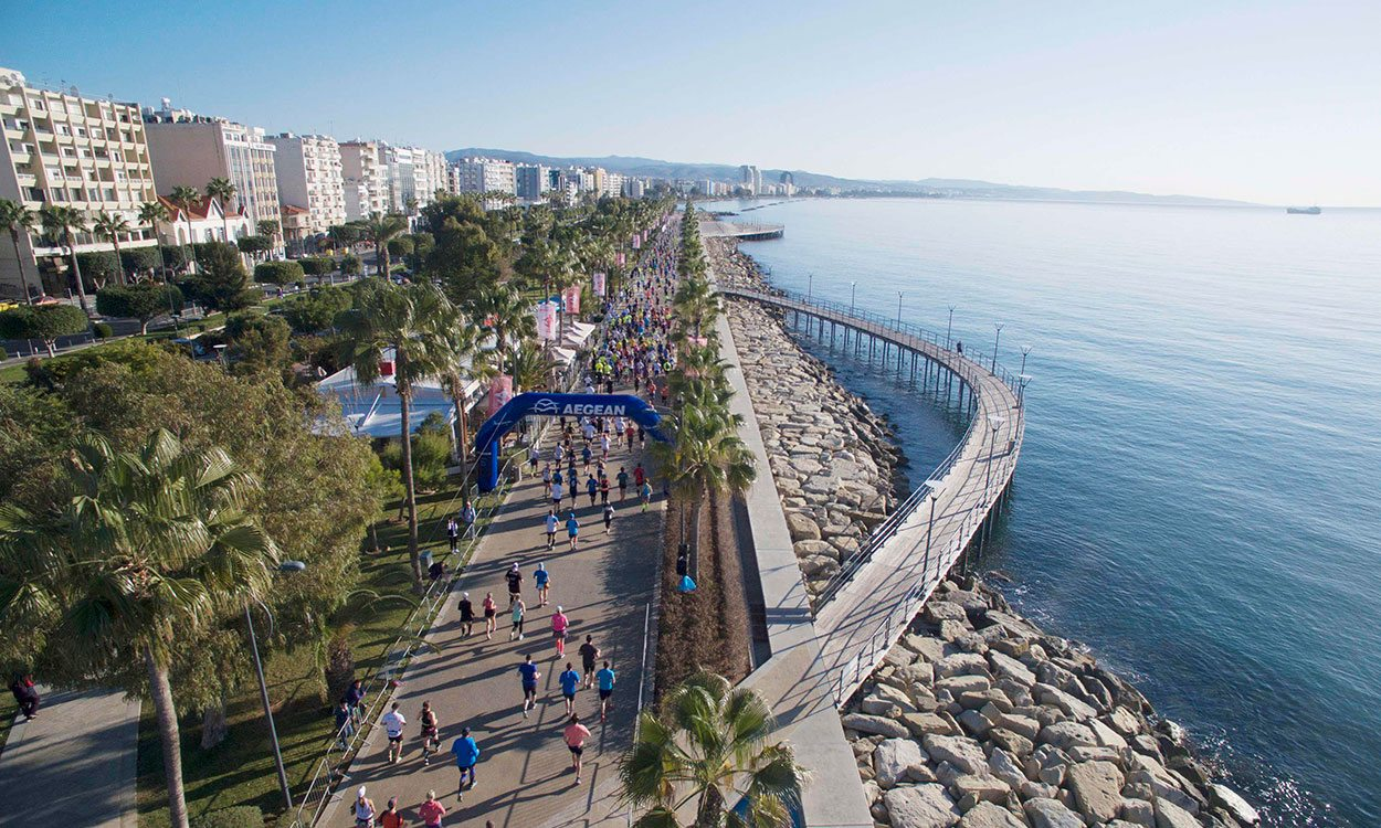 Runners get set for the OPAP Limassol Marathon GSO