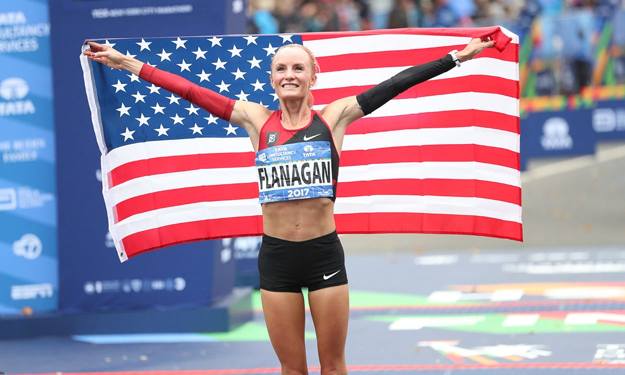 Shalane Flanagan and Geoffrey Kamworor win New York City Marathon