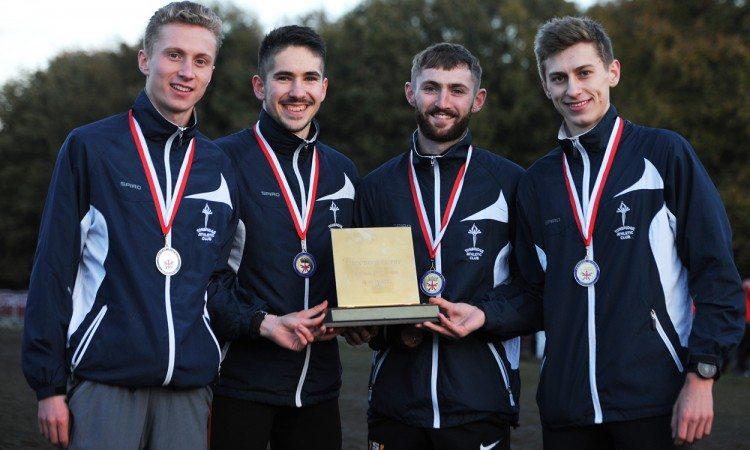 Tonbridge men's winners English Cross Country Relays 2017 by Mark Shearman