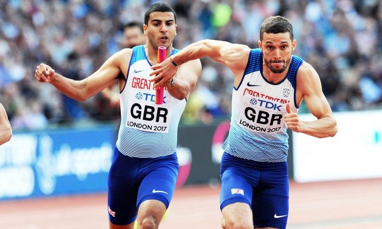 Adam-Gemili-Danny-Talbot-4x100m-London-2017-relay-by-Mark-Shearman