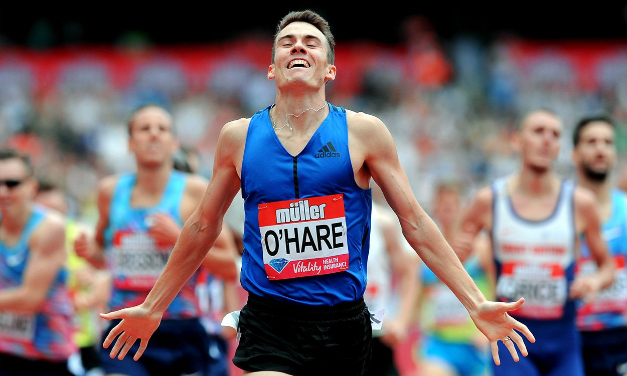 "Chris O'Hare is ""ready to roll"" at the Millrose Games"
