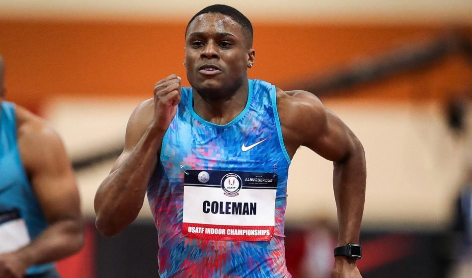 Christian Coleman breaks 60m world record in Albuquerque