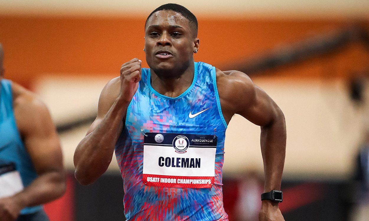 Patience is a virtue when it comes to sprinting 60m, says Christian Coleman