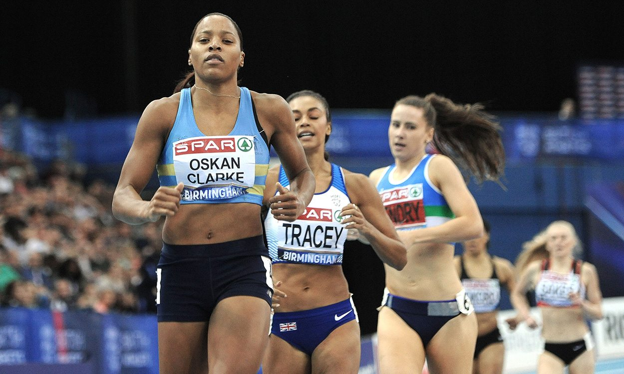 Shelayna Oskan-Clarke among winners on day two at British Indoors