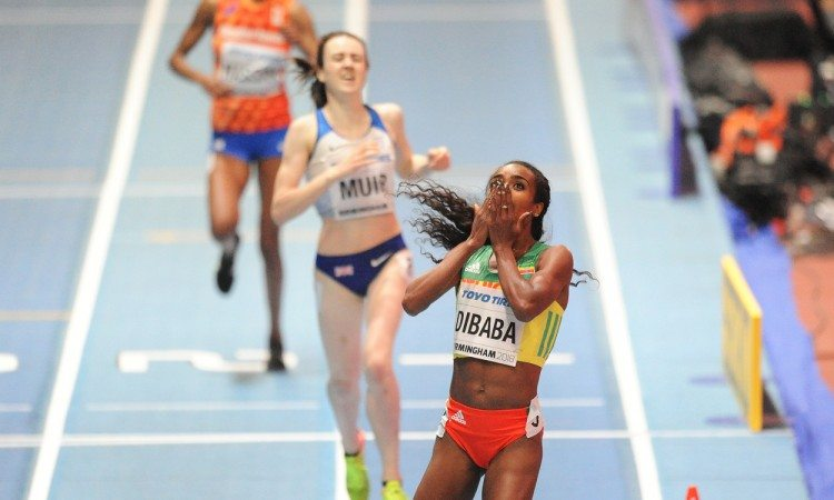 Genzebe Dibaba 1500m World Indoors by Mark Shearman