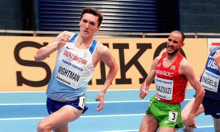Jake Wightman World Indoors heat 1500m by Mark Shearman