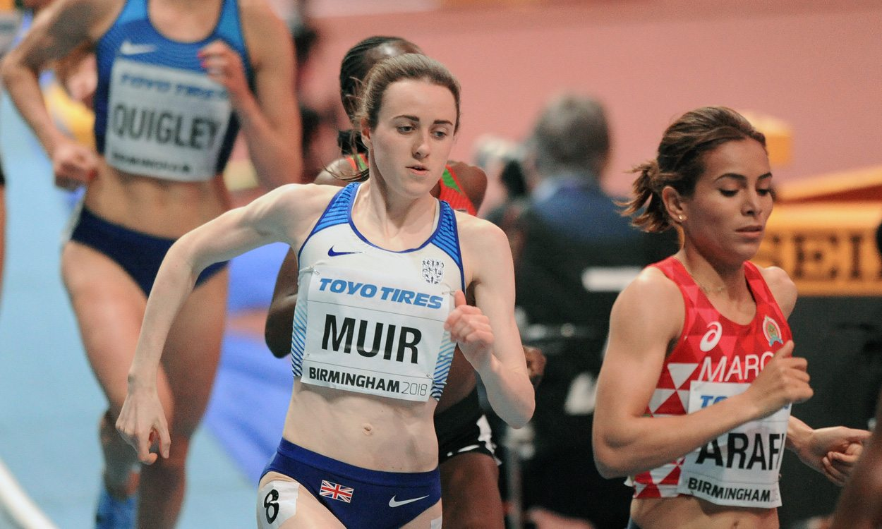 Superb silver for Laura Muir as Genzebe Dibaba does world indoor double