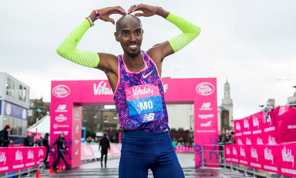Mo Farah and Charlotte Purdue win Vitality Big Half