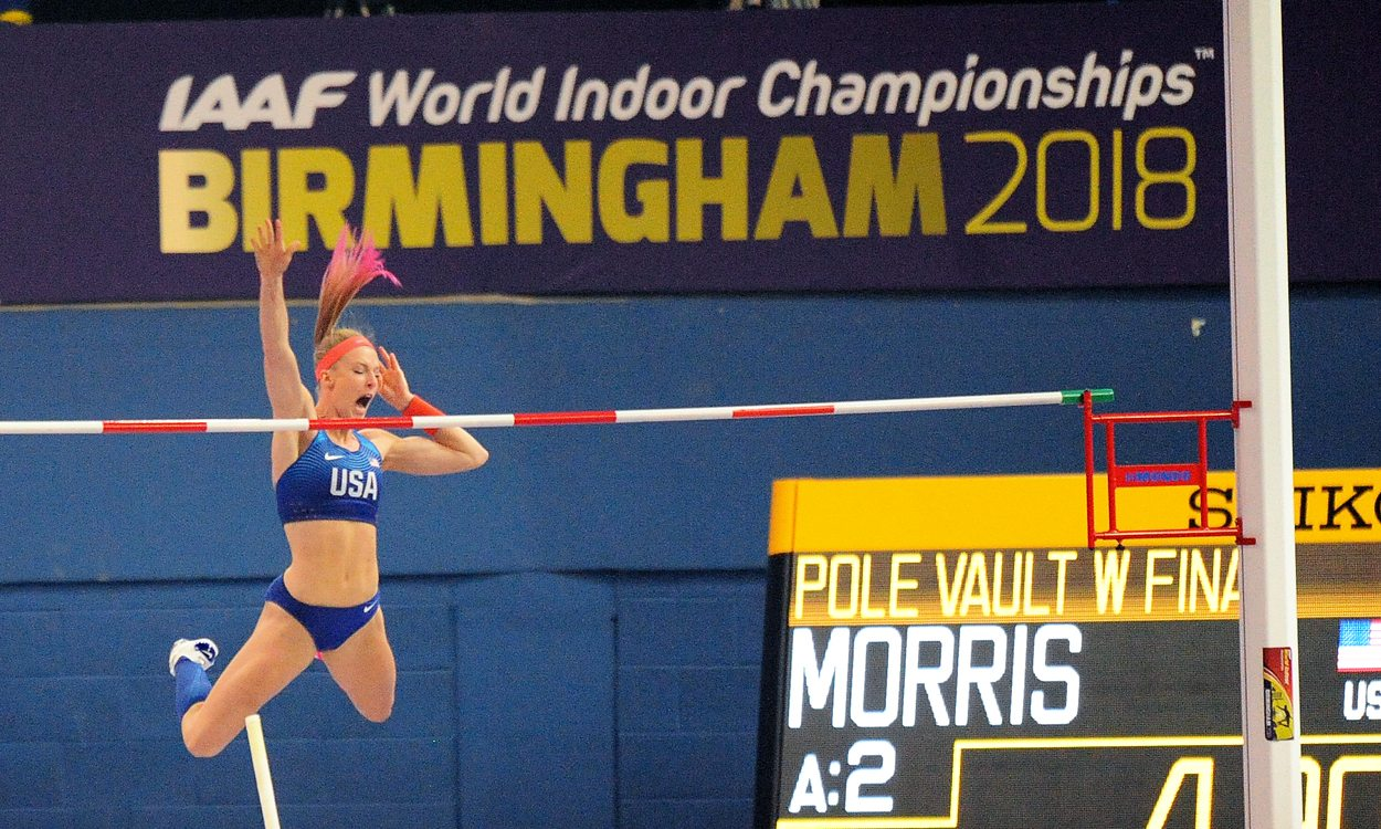 "Sandi Morris breaks ""silver streak"" with world indoor gold"