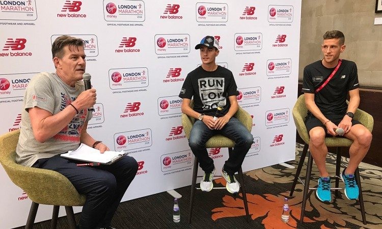 Callum-Hawkins-and-Jonny-Mellor-with-Tim-Hutchings-at-New-Balance-event