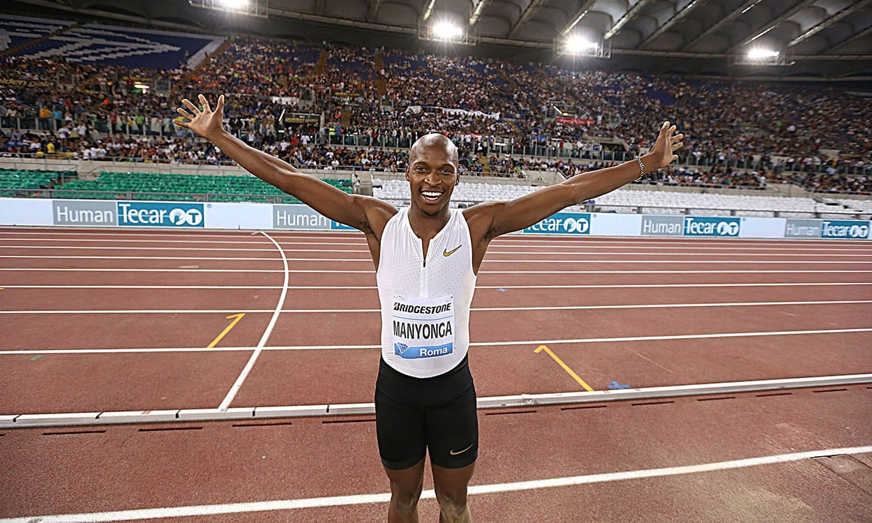 Luvo Manyonga wins quality long jump contest in Rome