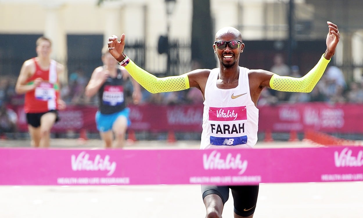 Mo Farah and Steph Twell win London 10,000
