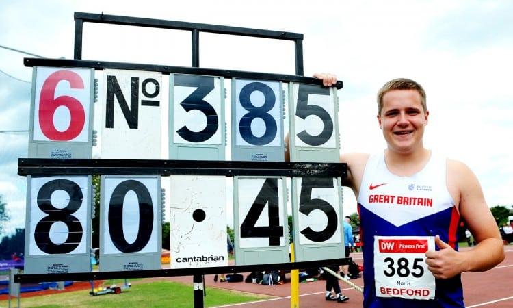 Jake Norris breaks British U20 hammer record in Bedford
