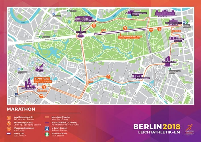 Marathon Subway Map.Marathon And Race Walk Routes Published For Berlin Euro Champs Aw
