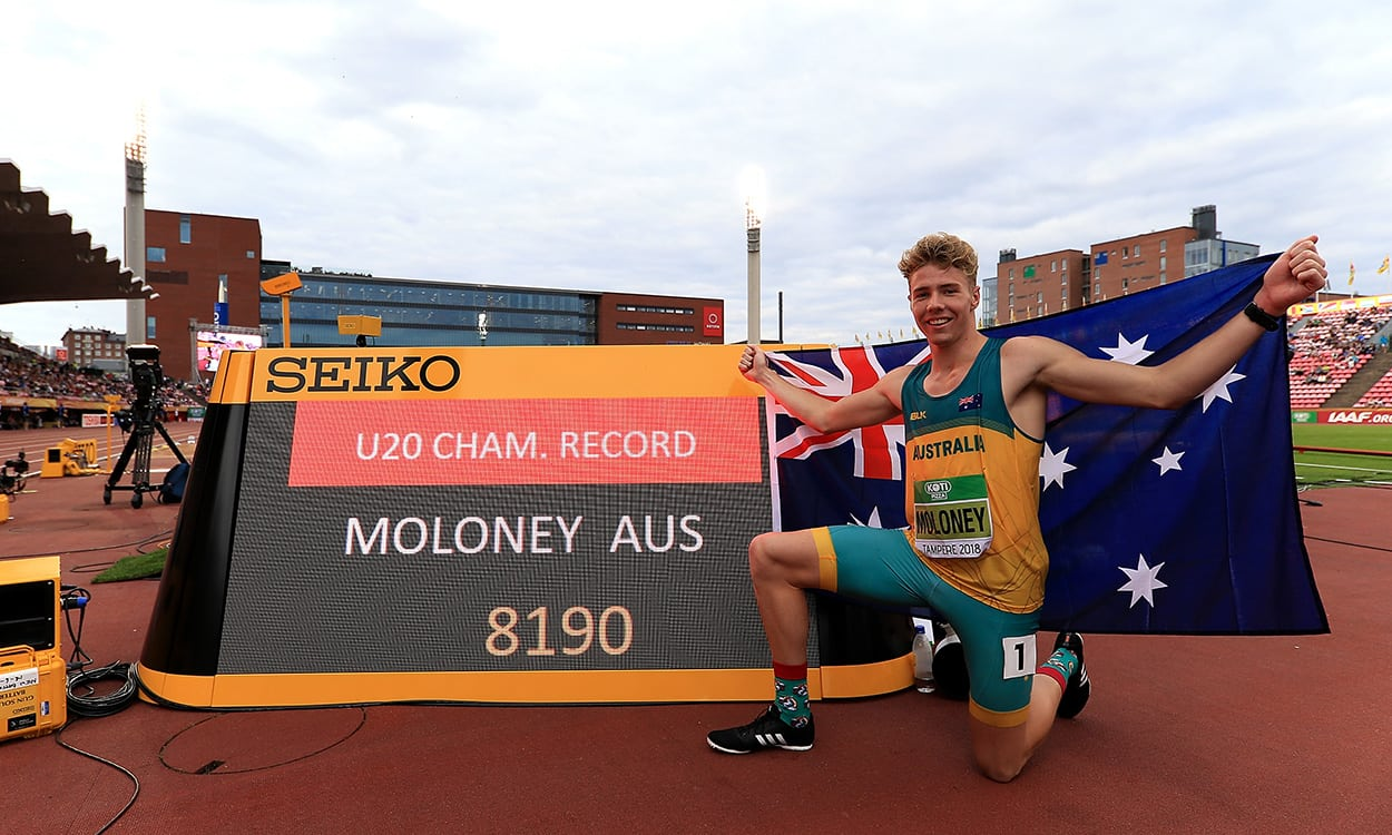 Record-breaking Ashley Moloney wins world U20 decathlon
