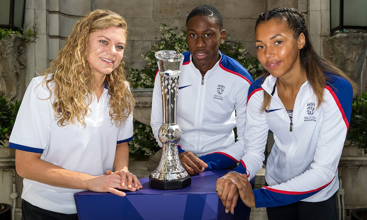Athletics World Cup platinum trophy unveiled in London