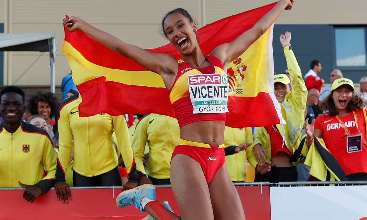 Maria Vicente completes heptathlon and triple jump double in Gyor