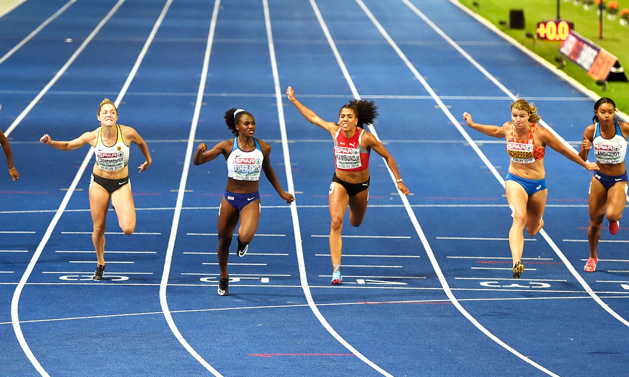 Dina Asher-Smith wins European 100m gold in British record